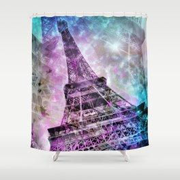 Pop Art Eiffel Tower Shower Curtain