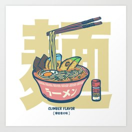 Climbing | Climber Flavor Ramen Noodle Art Print