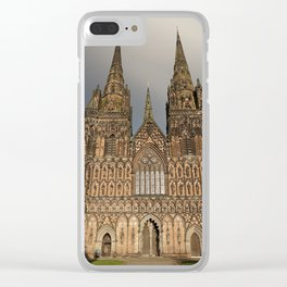 Stormy Clouds Over The Lichfield Cathedral Clear iPhone Case