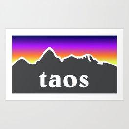 Taos New Mexico Mountains Art Print
