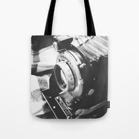 old school Tote Bags featuring Old school  by Olivier P.