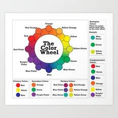 The Color Wheel Art Print