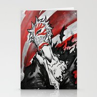 bleach Stationery Cards featuring Bleach - Hollow Mask by RISE Arts