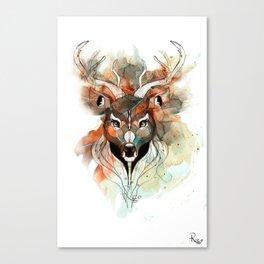 Deer- color brown Canvas Print