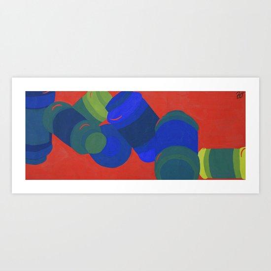Glaze Jars Art Print