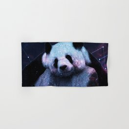 Sleepy Panda Hugs Galaxy Hand & Bath Towel