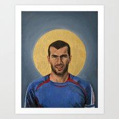 ZZ - Football Icon Art Print