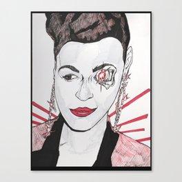 Electric Lady Terminator  Canvas Print