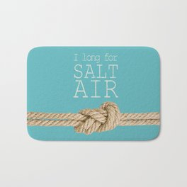 Beach Series Aqua - Beach Saying on turquoise background Bath Mat