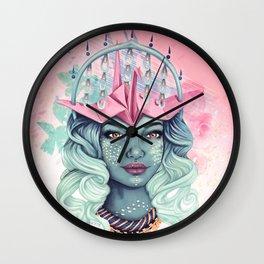 Tsuru Origami Girl Wall Clock