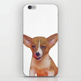 winking puppy iPhone Skin