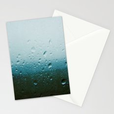 teardrops of rain Stationery Cards