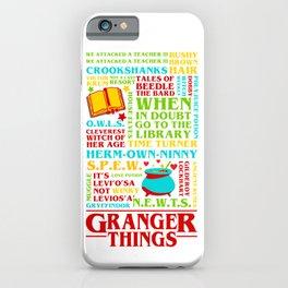 Granger Things iPhone Case