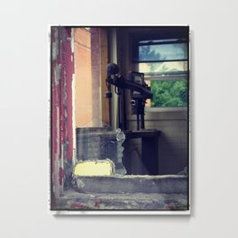Left Behind When The Building Was Abandoned Metal Print
