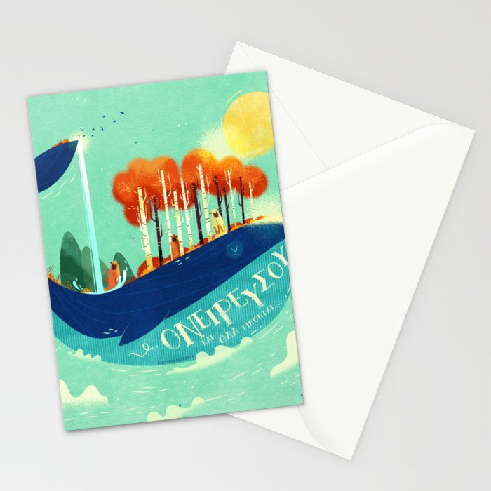 :::Tall Tree Whale::: Stationery Cards