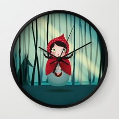 Riding Hood - Kokeshi Wall Clock