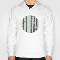 snow Hoodies featuring Robin Trees by Sandra Dieckmann