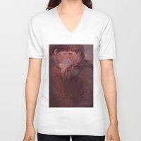 meme V-neck T-shirts featuring MEME 002 Merthur by mushroomtale