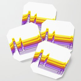 Fe Lines in Neon Colors Coaster