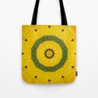 bees Tote Bags featuring Bees by Deborah Janke