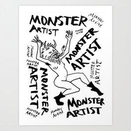 Monster Artist Art Print