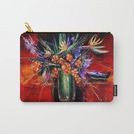 Floral Arrangement, Bronze Carry-All Pouch