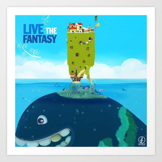 Live the Fantasy Art Print