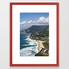 the great aussie south coast  Framed Art Print
