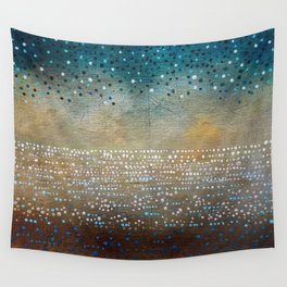 Landscape Dots - Turquoise Wall Tapestry