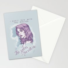 The wolves run with me. Stationery Cards