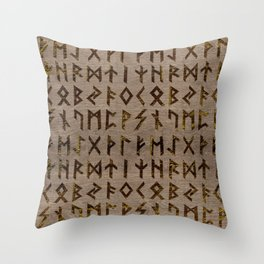 Ancient Celtic Runes  Alphabet pattern Throw Pillow