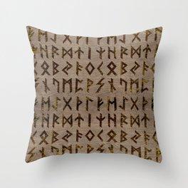 Ancient Celtic Runes  Alphabet pattern Throw Pillow