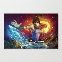 the legend of korra Canvas Prints featuring Korra by Nikittysan