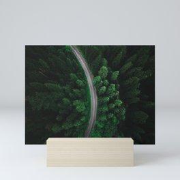 green forest Mini Art Print