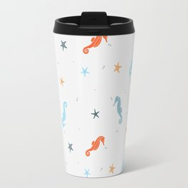 Seahorses and Starfish Travel Mug