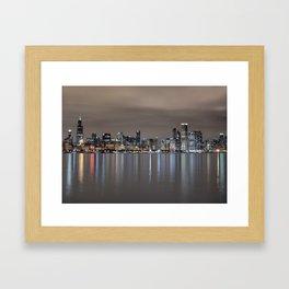 Chicago After Dark Framed Art Print