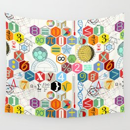 Math in color (white Background) Wall Tapestry