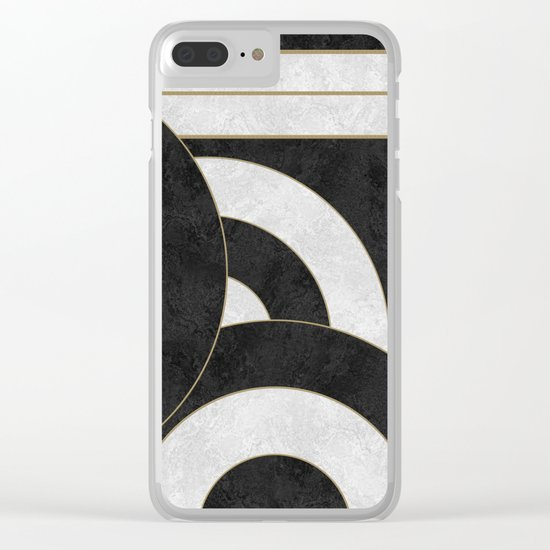 Geometric Marble 01 (abstract) Clear iPhone Case