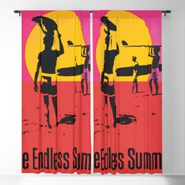 California Summer Surf from The Endless Waves Blackout Curtain