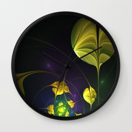 Swirling Around, Abstract Fractal Art Wall Clock