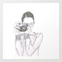 Pen + Ink Modern Photographer Art Print