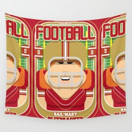 American Football Red and Gold - Hail-Mary Blitzsacker - Jacqui version Wall Tapestry