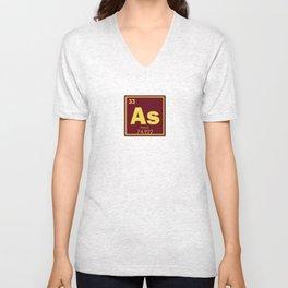 Arsenic chemical element Unisex V-Neck