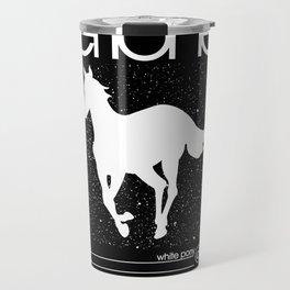 Deftone White Pony Travel Mug
