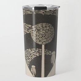 Art Nouveau Dandelion Seeds Travel Mug
