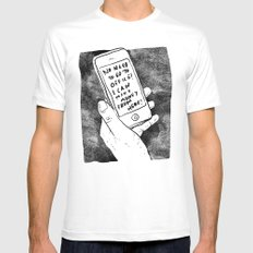 smartphone White Mens Fitted Tee MEDIUM