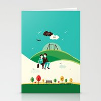 the fault in our stars Stationery Cards featuring The Fault In Our Stars by Risa Rodil