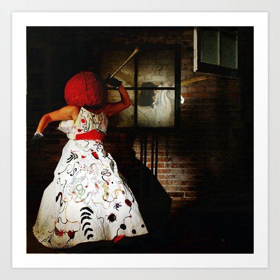 """""""Little Miss Redhead"""" Art Print"""
