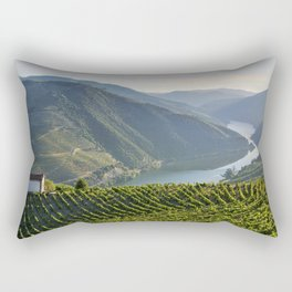 Vineyards and a chapel in the Douro Valley, Portugal Rectangular Pillow