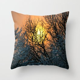 The Sun Shines Forth Throw Pillow